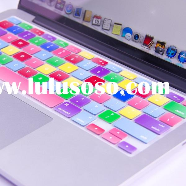 Seven color silicone keyboard cover for macbook