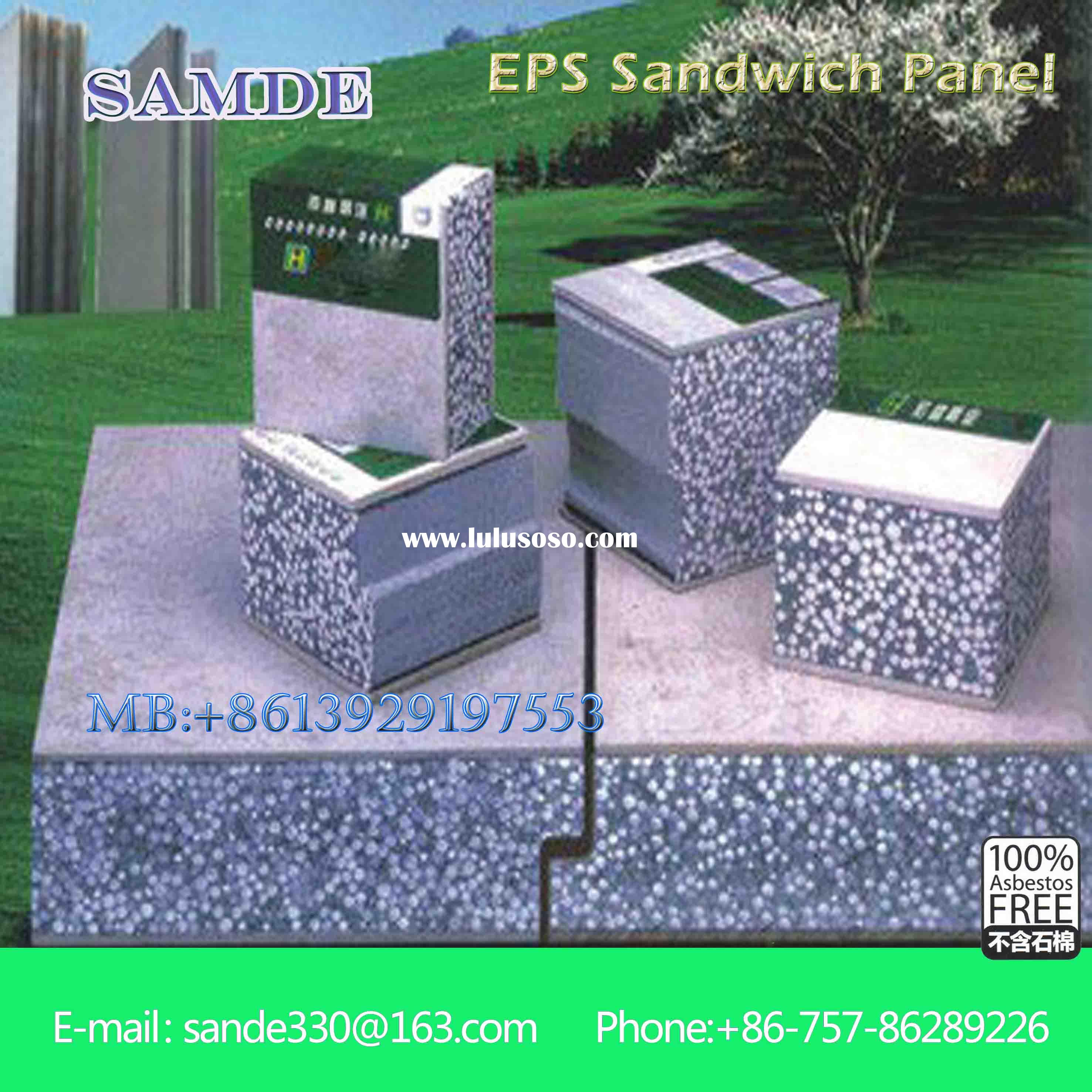 Soundproof lightweight sandwich wall panel for cold storage