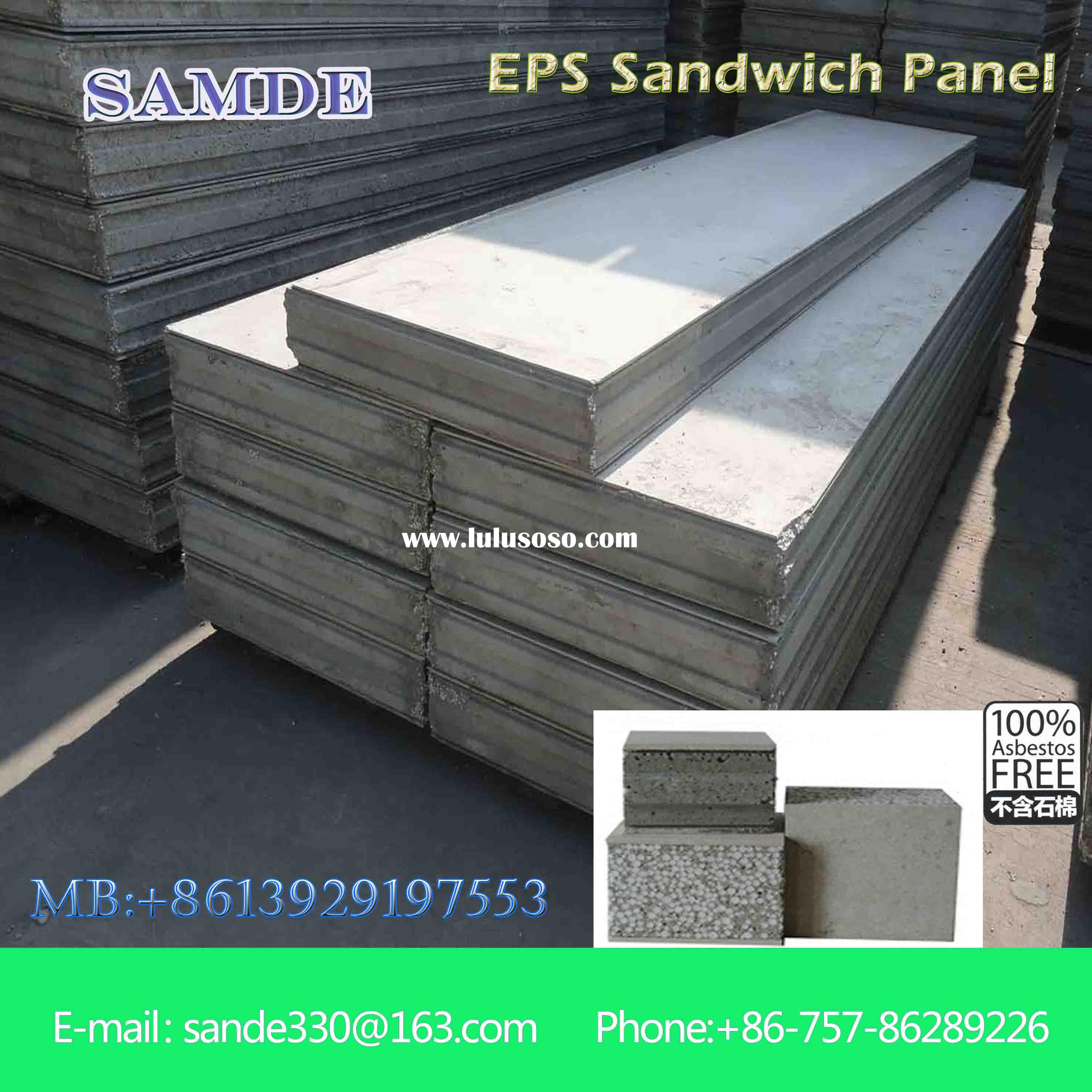 100% Non asbestos fiber cement sandwich wall board for wall building 2440*610mm