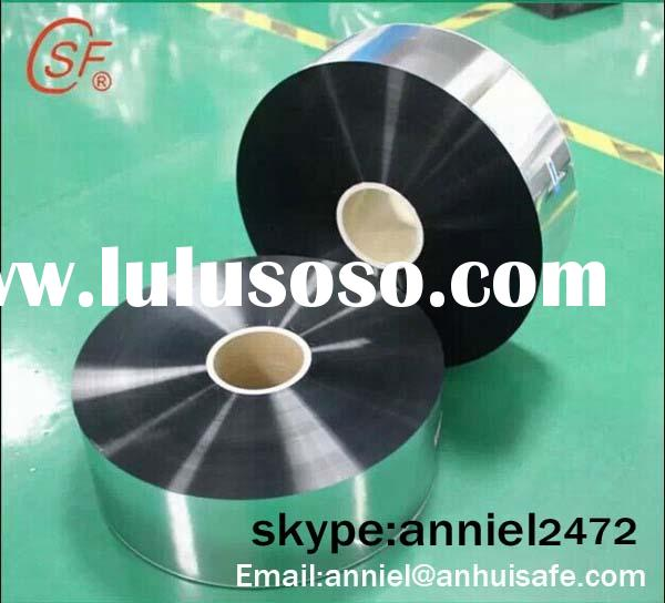 Zinc-Aluminum alloy metallized polyester film with heavy edge for capacitor use