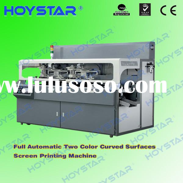 Full automatic 2color cylinder screen printing machine for plastic  bottle