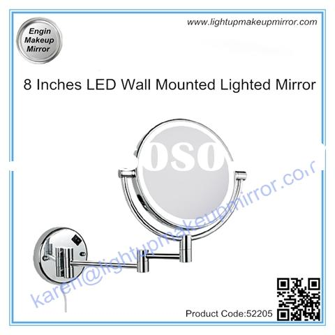 8 Inches LED Wall Mounted Lighted Mirror