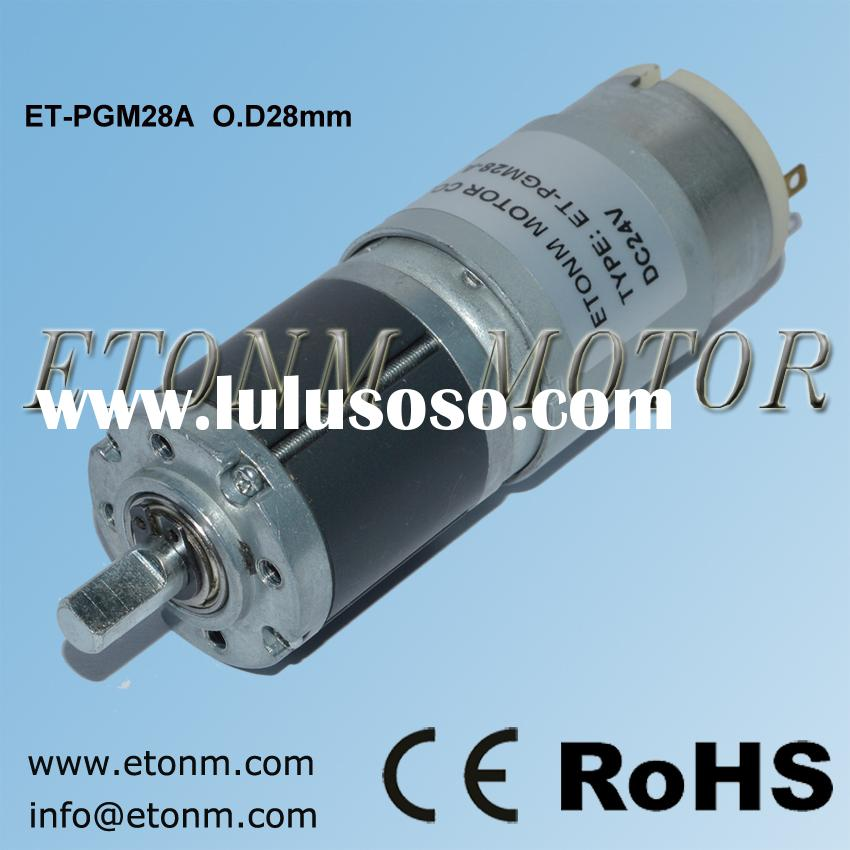 planetary gear motor high torque 12V 28mm