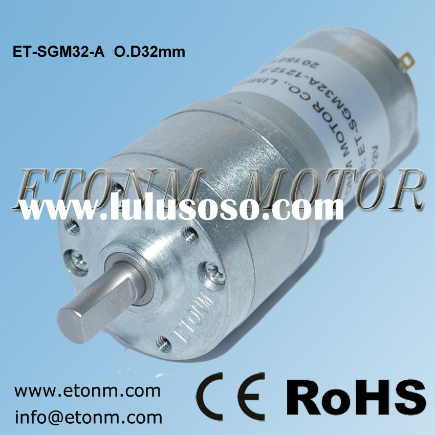 high torque dc motor 12V with reductor 32mm