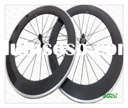 700C 90mm Clincher Carbon Alloy Road Bike wheels 23mm Width form boostbicycle