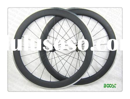 BOOSTbicycle.com  for sale 700C 60mm Clincher Carbon Alloy Road Bike wheel 23w
