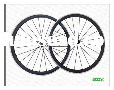 carbon aluminum wheels 700C 38mm Clincher Carbon Alloy Road Bike wheelsets form boostbicycle company