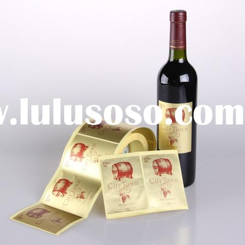 wine bottle sticker labels OEM Wine Sticker