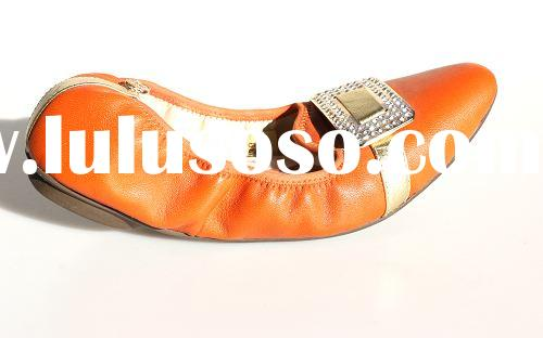 ballet shoes for women Cow Leather Lady Ballerina Shoes