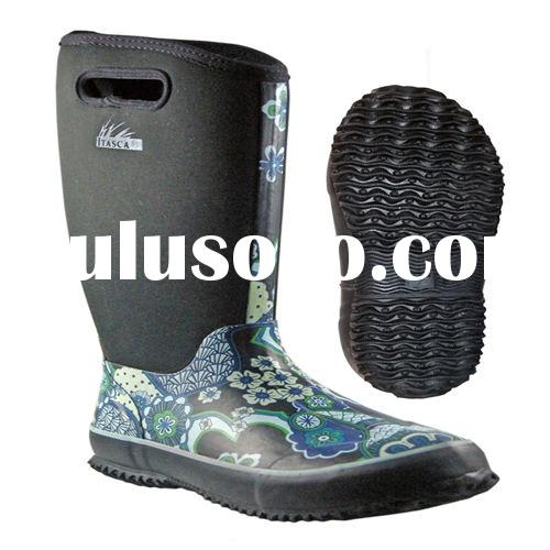 Neoprene boots with Calendar Outsole blue color for girls