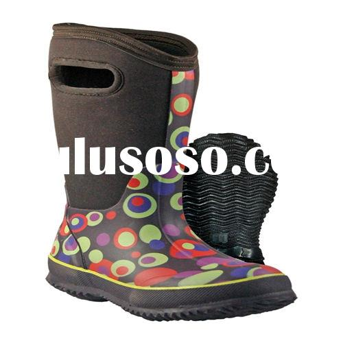 Pink neoprene boots for girls warm and water proof