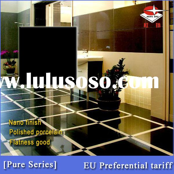 Cheap price polished porcelain tile-pure black from redpearl