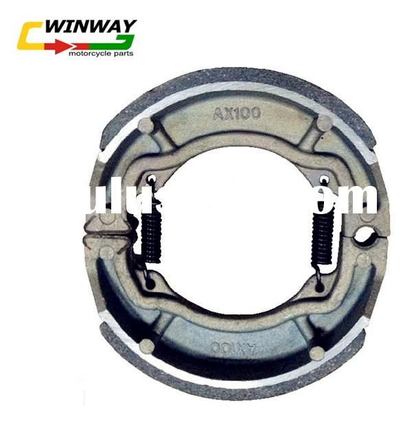 Ww-5117 Ax100 Motorcycle Brake Shoe, Motorcycle Part, Non-Asbestos, Semi-Metallic