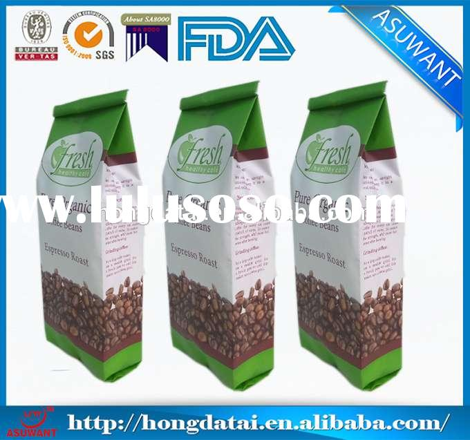 foil gusseted coffee bags Foil Side Gusset Coffee Bags With Valve