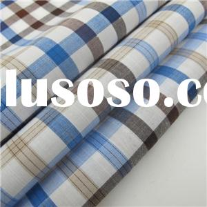 100% Cotton Yarn Dyed Slub Check Shirting Fabric