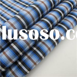 100% Cotton Combed Plaid Fabric For Shirt