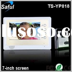 Saful TS-YP818 7-inch TFT LCD wired video door phone unlocking