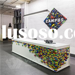 Colorful Modern Design Solid Surface Counter