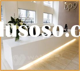 Pure White Solid Surface Reception Counter