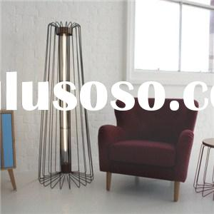 Wire Steel And Wood Side Table