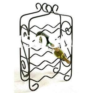 12 Bottle Iron Wine Rack, Decorative Wrought Iron Waved Wine Rack Mh-mr-15040