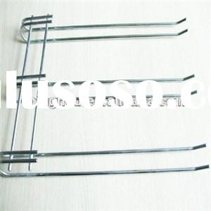 Spray Coated Under Kitchen Cabinet Hanging Iron Wine Glass Rack MH-GR-15013