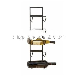 Fashionable Metal Wall Mounted Wine Display Rack Bottle Holders For 5 Bottles MH-MR-15026