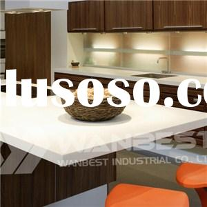 Solid Surface White Island Kitchen Counter