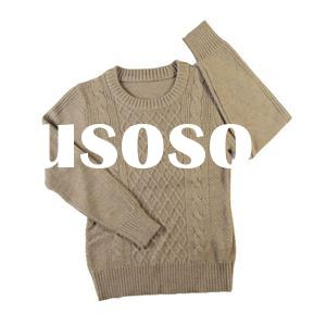2016 fall elegant women's jacquard sweater cable seedstitch wool knitwear