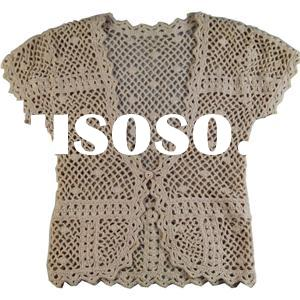 2016 spring summer cotton shawl hand-made crochet poncho vest sweater