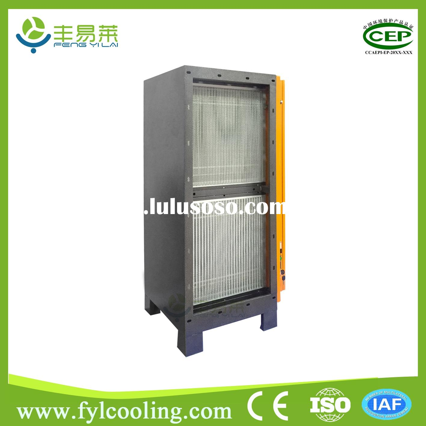 Commercial Air Cleaner Ionizer : Electrostatic black smoke air purifier for emergent diesel