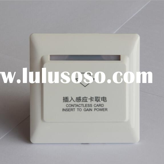 European design fire-proofing PC hotel energy saver switch/card key switch/energy saving switch