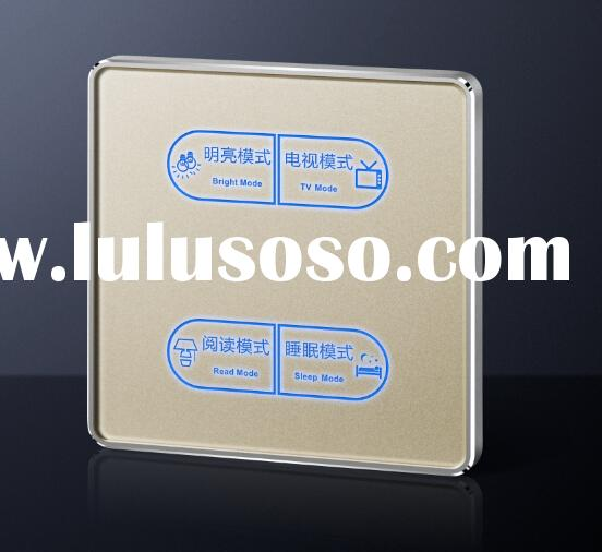 China supplier luxury ultra-large hotel acrylic touch light control wall switch 4way