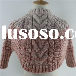 Latest design kid acrylic cable knitted shawl