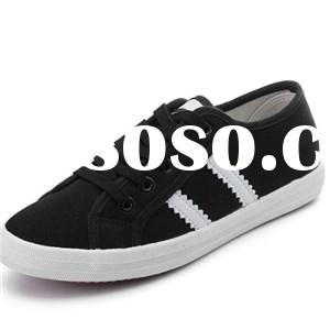 Classic Black White Stripes Women''s Racer Sneakers