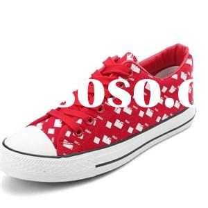 Classic Fashion Women''s Red White Lace-up Casual Sneakers