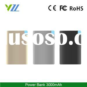 Hot Selling Aluminum 3000mah Credit Card Power Bank Universal Portable Power Bank With Cable