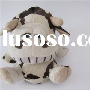 High Quality Fuzzy Soft Stuffed Plush Animal Cow Shaped Slippers