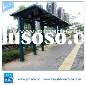 galvanized steel custom color bus shelter