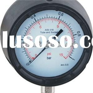 "113mm(4.5"") Process Pressure Gauge Safety Pressure Gauge Polypropylene Safety Case"