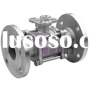 3PC Full Bore Stainless Steel Flanged Ball Valve
