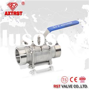 3PC Stainless Steel Full Port Floating Clamp Ends Ball Valve 1000WOG