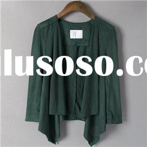 Casual Clothes Soft Summer And Autumn Solid Color Suede Leather Short Coat Jacket Brand