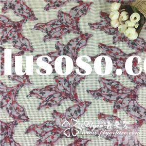 Sequin Lace Rotten Flower Embroidered Fabric, Made of Cotton, Various Sizes/Colors, Eco-friendly