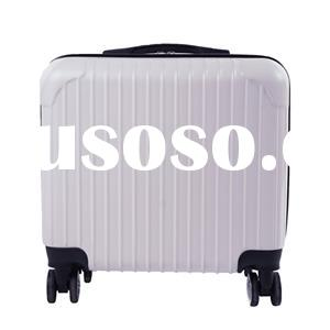 White Vertical Grain-trolley Case Luggage Bag