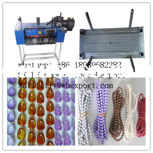jewelry plastic curtain beads ball chain making machine