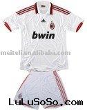 09/10 Season AC Milan Away White Soccer Jersey / Uniform