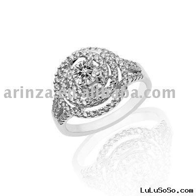 0.3 Carat Diamond 18K White Gold Bridal Engagement Ring
