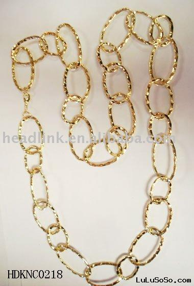 14k gold plated chain jewerlly necklace