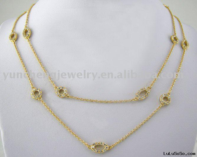 18K Gold Necklace Jewelry
